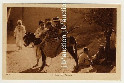 NORTH AFRICA CHILDREN W DONKEY KINDER M ESEL 1910S PC LEHNERT LANDROCK 14