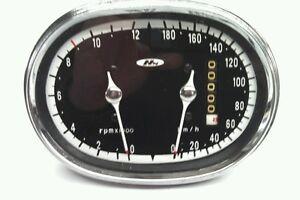 Honda 305 SUPERHAWK 77 CB CB77  Speedometer Gauge Cluster Overlay Decal KMH