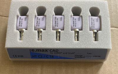 Ivoclar Vivadent Ips E.max Cad Cerec Ht C2 C14 5 Blocks Emax