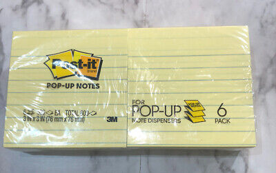 Post-it Notes Pop-up Lined Notes 3 X 3 Canary Yellow Pack Of 6 Pads
