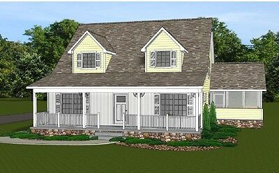 2-Fortunes Home House Plan 2021 SF Blueprings #1349 with Basement & 3 Bedrooms