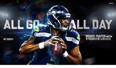 - CUSTOM 3x5 Russell Wilson #3 Seattle Seahawks Flag House/Tailgate Banner