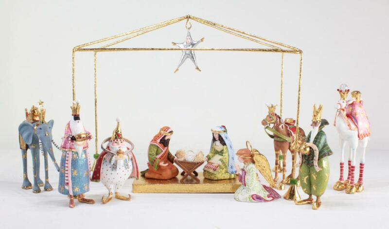 Patience Brewster Mini Christmas Nativity Figure Set 13 Piece Collection