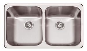 Franke Kitchen Sinks Australia : Franke Steel Queen SQX620D Stainless Steel Double Bowl Kitchen Sink ...