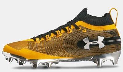 6c8b9306556 Under Armour Mens Spotlight MC Molded Football   Soccer Cleats Yellow Black  sz 9