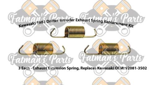 Kawasaki 1981 Drifter Intruder Snowmobile Exhaust Spring Replacement Kit