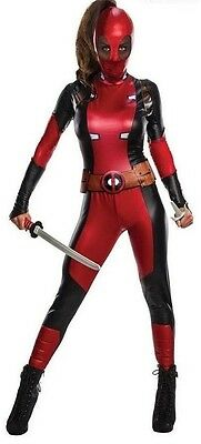 Deadpool Deluxe Womens Costume Women's Halloween Costume,FREE  2-3 DAY DELIVERY