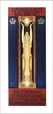 AUSSTELLUNG DER KÜNSTLERKOLONIE 1901 PLAKAT von Peter Behrens XL-Faksimile 135
