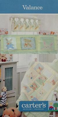 CARTER'S STUFFED ANIMALS BABY ROOM  VALANCE WINDOW TREATMENT NEW