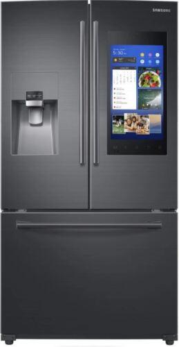 Samsung Family Hub 2.0 24.2 Cu. Ft. French Door Refrigerator Black Stainless Steel RF265BEAESG