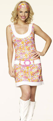 GO GO GIRL 60'S/70'S FANCY DRESS OUTFIT COSTUME ()