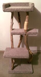 Driftwood cat post/cat tree - brand new 4 ft 5 inches tall