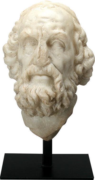 Homer Greek Writer Portrait Bust Statue 11H