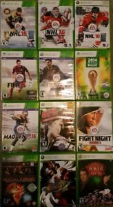 XBOX 360 Sports and Fighting Games (Various Prices)