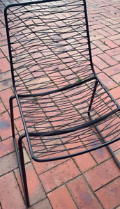 4 x Black Metal Chairs (Freedom Furniture)