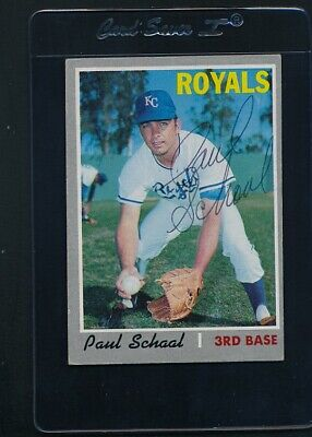 1970 Topps #338 Paul Schaal Royals Signed Auto *C7635