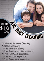 Duct cleaning services 110$