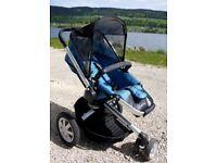 Quinny buzz blue stroller, good condition