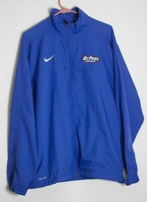 Mens DePAUL volley ball warm up jacket NIKE dry fit size Large