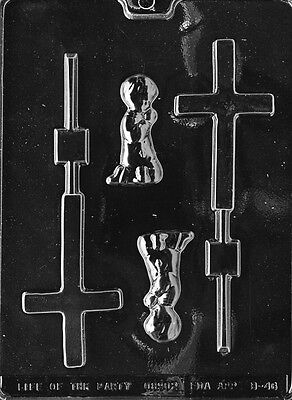 - BOY CHRISTENING LOLLY POP MOLD chocolate candy mold communion