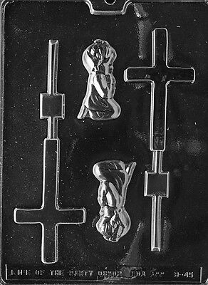 GIRL CHRISTENING LOLLY POP MOLD chocolate candy mold communion