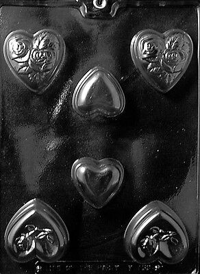 HEART ASSORTMENT SOAP BARS mold molds Chocolate Candy heart valentines (Heart Candy Bars)