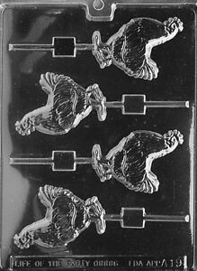 ROOSTER LOLLY POP mold Chocolate Candy soap favors cute farm animals chicken
