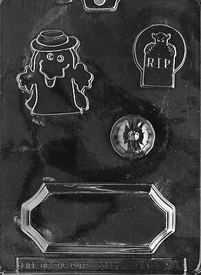 HALLOWEEN CENTERPIECE MOLD H93 chocolate candy soap ghost pumpkin name plate