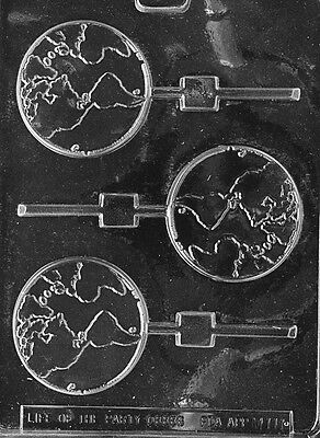 GLOBE EARTH LOLLY mold Chocolate Candy earth day globes planets  - Chocolate Globes