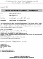 Wanted Plow Drivers