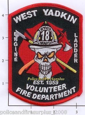 North Carolina - West Yadkin Engine 18 Ladder 18 NC Fire Patch - Skull