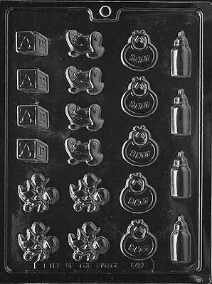 BABY DECOS BITE SIZE CHOCOLATE CANDY MOLD SHOWER DIY PARTY FAVOR CUPCAKE - Baby Candy