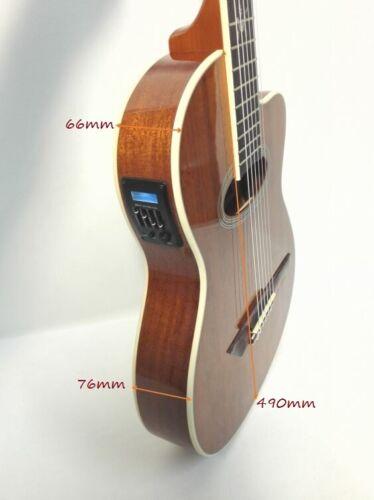 Rosales Electric-Classical Guitar,Thin-body,EQ,All Mahogany+Free Bag MR-04CEQ N 