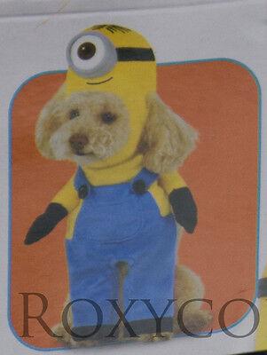 Halloween Despicable Me Minion Stuart Pet Dog Costume Size XLarge NWT (Despicable Me Pet Costume)