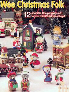 Vintage Crochet Pattern Mini Dolls for Christmas Village