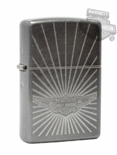 Sharp Harley Davidson Sun Ray Grey Dusk Zippo Lighter