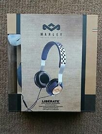 House of Marley EM-JH073-DN Liberate Denim Headphones
