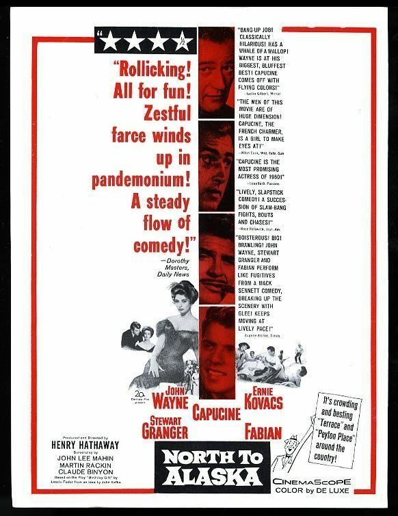 1960 John Wayne photo North to Alaska movie release trade print ad