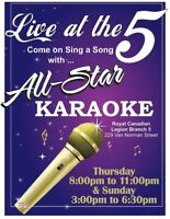 BR. 5 LEGION:  ALL-STAR KARAOKE w/ ROD  JACKSON Thursday Nights