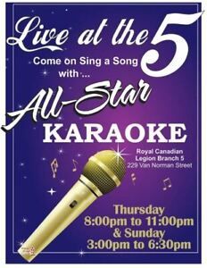 BR. 5 LEGION - ALL STAR KARAOKE With ROD JACKSON Every SUNDAY