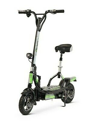 Patinete electrico 300w plegable scooter patin con sillin plataforma negro verde