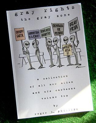 GRAY RIGHTS Alien & UFO Cartoon Book NEW!