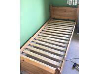 IKEA single pine bed frame
