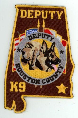 HOUSTON COUNTY SHERIFF ALABAMA K-9 NEW PATCH STATE SHAPED