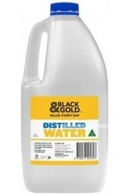 DISTILLED WATER 2 LITRES - QUICK POST