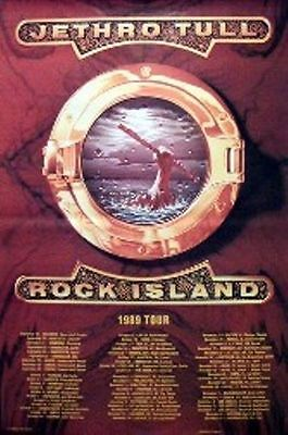 JETHRO TULL - ROCK ISLAND TOUR  GIANT POSTER