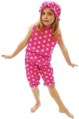 Viktorianisch Pink & Weiß Getupfte Baden Kostüm Belle Sizes 8 - Plus