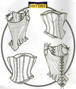 Butterick-B4254-SEWING-PATTERN-12-14-16-Vintage-Victorian-Corset-Stays-SCA-Boned