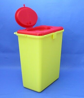 Kanülenabwurf 11 Liter eckig, Entsorgungsbox, Kanülensammler, Abwurf- Behälter