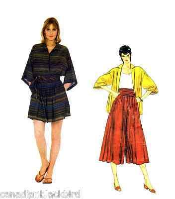 Vogue American Designer-muster (VOGUE American Designer Schnittmuster 2937 Perry Ellis - Culotte Shirt  size 12)